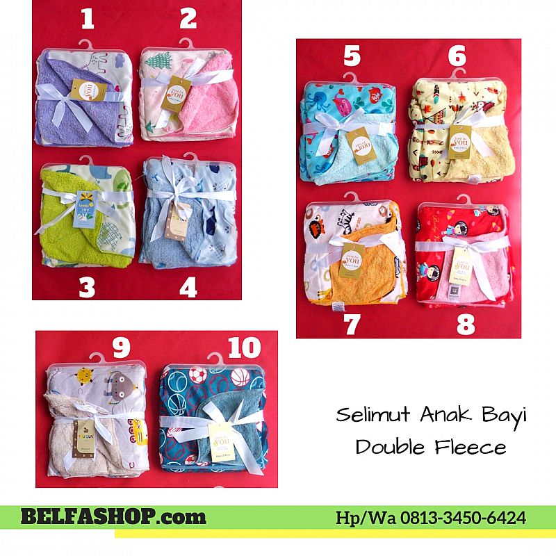 Selimut Anak Bayi Double Fleece Motif