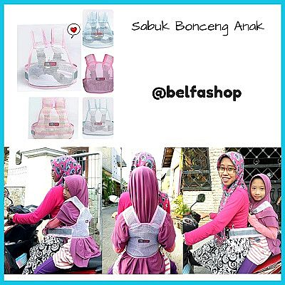 Sabuk Bonceng Motor Anak Model Rompi Warna