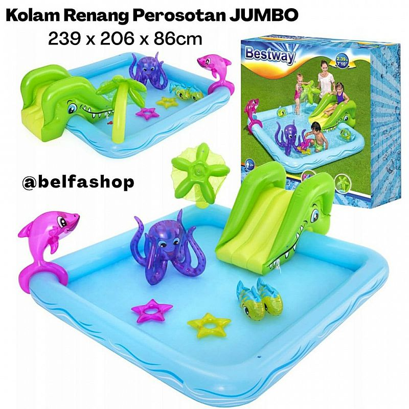 Kolam Perosotan Bestway Fantastic Aquarium Play Pool 53052